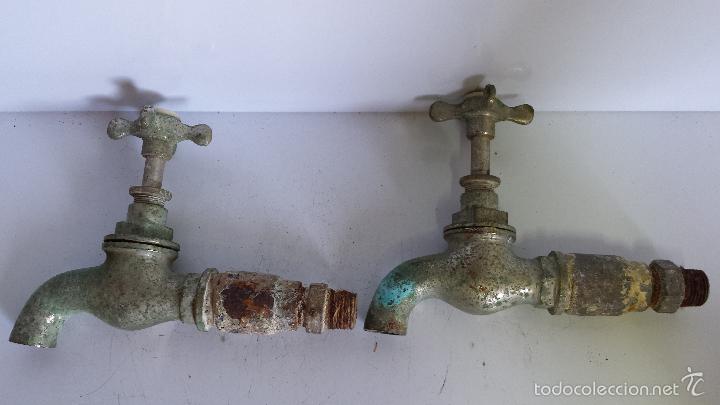 antigua pareja de grifos de baño agua fría agua - Comprar ...