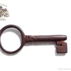 Antigüedades: LLAVE DE FORJA 9,5 CM DE LARGO. Lote 59238370