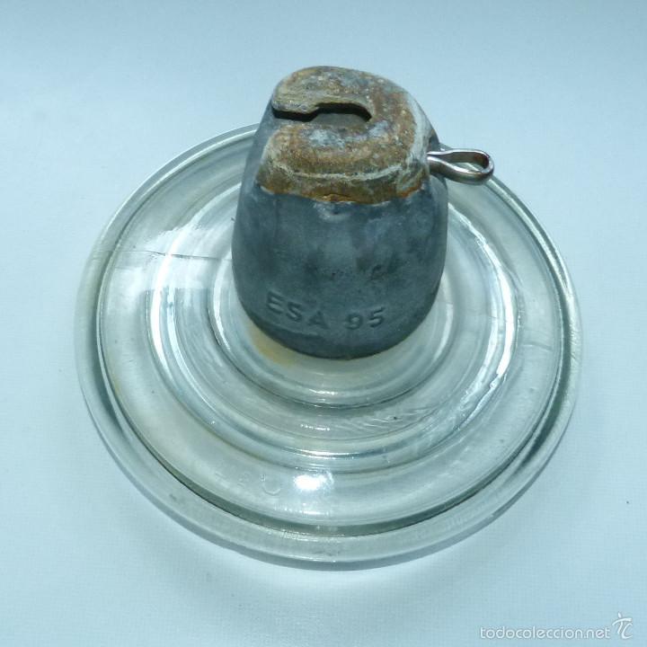 Antigüedades: DISCO JÍCARA AISLANTE DE ALTA TENSIÓN DE 18 CENTIMETROS - Foto 3 - 59608555