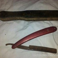 Antigüedades: NAVAJA DE AFEITAR MARCA FILARMONICA Y AFILADORA DE CUERO. Lote 59711327