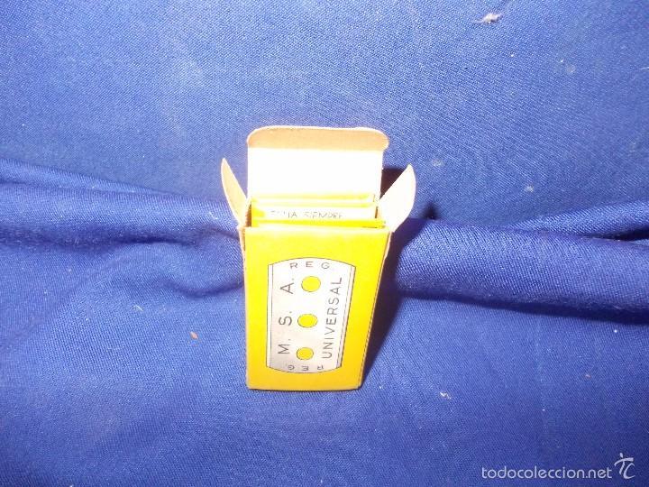 Antigüedades: hojas de afeitar msa -4 y caja - Foto 4 - 59777704