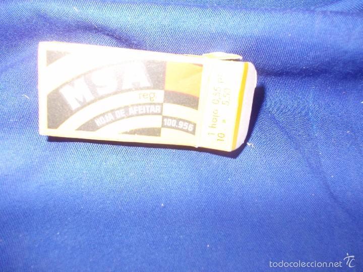 Antigüedades: hojas de afeitar msa -4 y caja - Foto 5 - 59777704