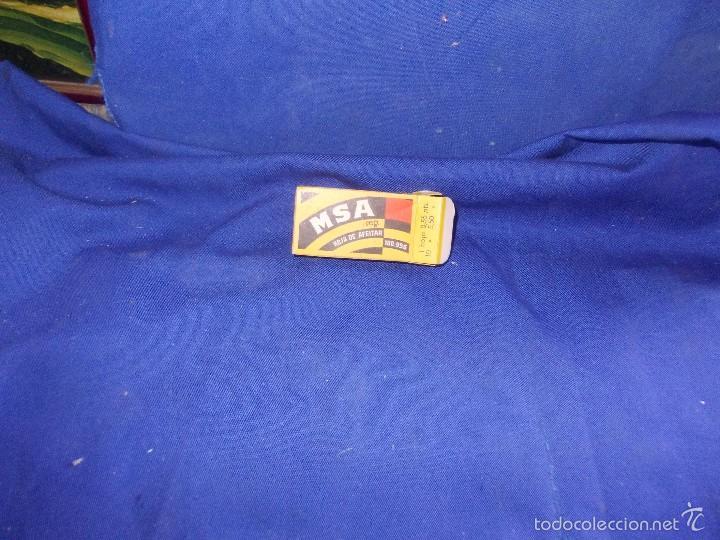 Antigüedades: hojas de afeitar msa -4 y caja - Foto 6 - 59777704