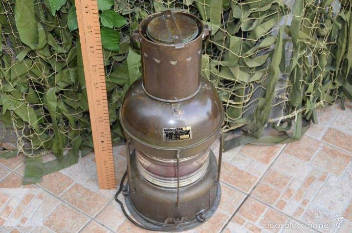 Antigüedades: FAROL DE BARCO (LÁMPARA) JAPONES - Foto 2 - 59781296