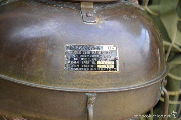 Antigüedades: FAROL DE BARCO (LÁMPARA) JAPONES - Foto 3 - 59781296