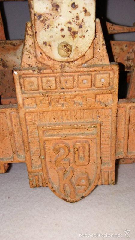 Antigüedades: BALANZA DE PLATOS. 20KG - Foto 2 - 59898723