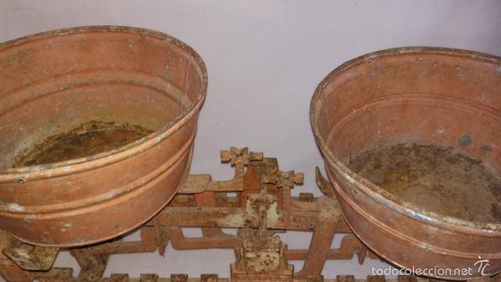 Antigüedades: BALANZA DE PLATOS. 20KG - Foto 3 - 59898723