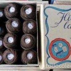 Antigüedades: CAJA DE HILOS LABORES COTOFIL, BARCELONA. LOS DADOS. Lote 59972739