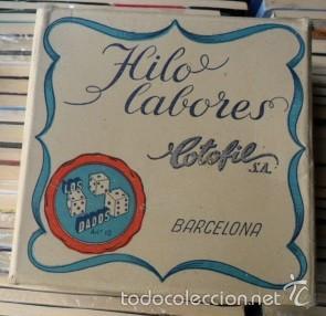 Antigüedades: Caja de hilos labores Cotofil, Barcelona. Los Dados - Foto 2 - 59972739