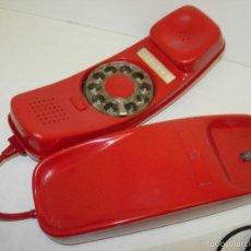 Teléfonos: ANTIGUO TELÉFONO ROJO MODELO GONDOLA CITESA MALAGA CON TOMA ACTUAL FUNCIONANDO. Lote 60001127
