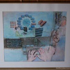 Antigüedades: CHRIS DUKE ( EE.UU, EN ACTIVO ) - ILUSTRACIÓN ORIGINAL REALIZADA PARA IBM EN AÑOS 70'S. Lote 27888080