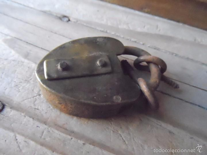 Antigüedades: CANDADO ANTIGUO BRONCE - Foto 2 - 60198107