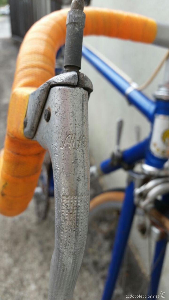 Antigüedades: BICICLETA DE CARRERAS ZEUS RACESA COMPONENTES ALFA Y ZEUS,AÑOS 60 APROX - Foto 8 - 60222643