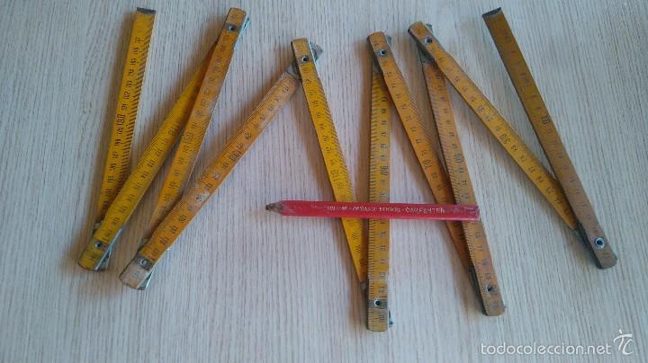 METRO DE MADERA Y LÁPIZ CARPENTER (Antigüedades - Técnicas - Herramientas Profesionales - Carpintería )