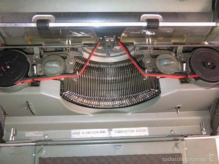Antigüedades: Máquina de Escribir Antigua Hermes Ambassador. Modelo Mecánico Suizo de 1952. Paillard, Suiza. - Foto 3 - 60355867