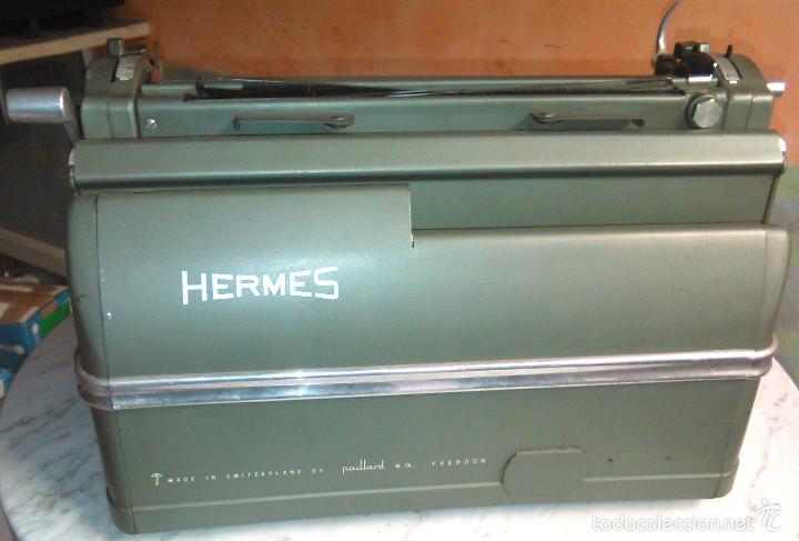 Antigüedades: Máquina de Escribir Antigua Hermes Ambassador. Modelo Mecánico Suizo de 1952. Paillard, Suiza. - Foto 6 - 60355867