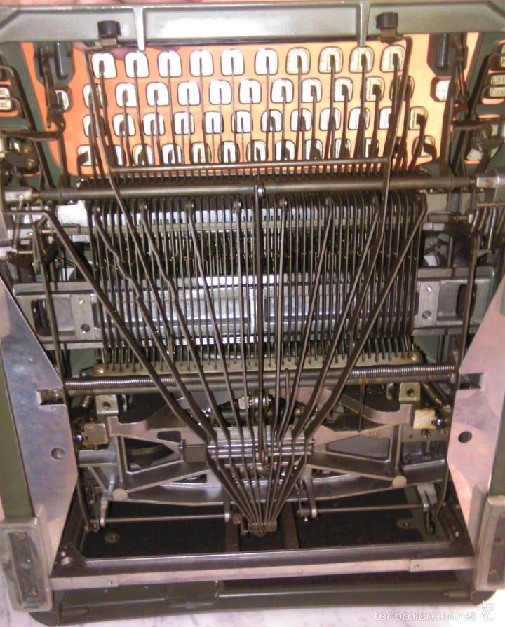 Antigüedades: Máquina de Escribir Antigua Hermes Ambassador. Modelo Mecánico Suizo de 1952. Paillard, Suiza. - Foto 9 - 60355867