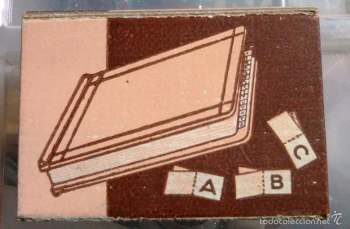 Antigüedades: Índice de Tela Engomada. Juego de A la Z. Caposa. Años 40-50. Artículo de Imprenta Antigua. - Foto 3 - 60375951