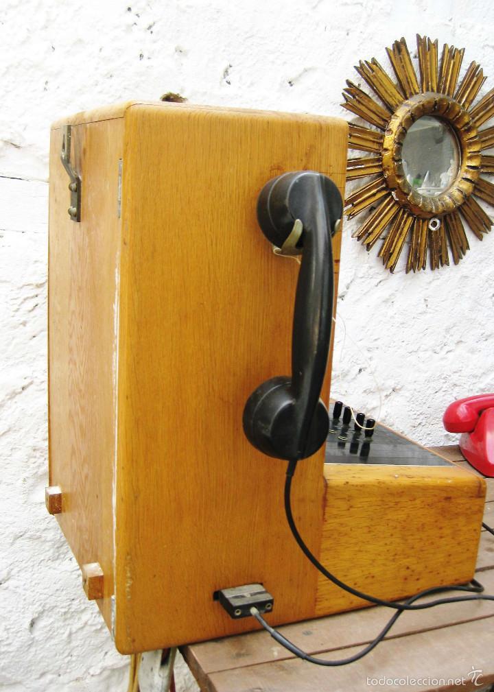 Teléfonos: DE MUSEO! CENTRALITA ANTIGUA TELEFONO BAKELITA LM ERICSSON ANTIGUO TIENDAS TELEFONIA DECORACION - Foto 3 - 60396455