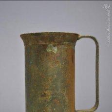 Antigüedades: ANTIGUO VASO MEDIDOR DE ACEITE DE OLIVA 1 DECILITRO- ARAGÓN. Lote 60492791