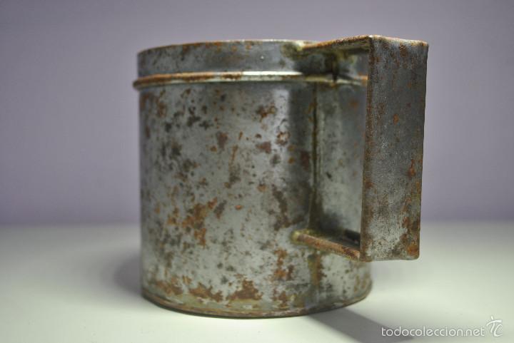 Antigüedades: ANTIGUO VASO MEDIDOR DE ACEITE DE OLIVA 1 LITRO- ARAGÓN - Foto 2 - 60493751