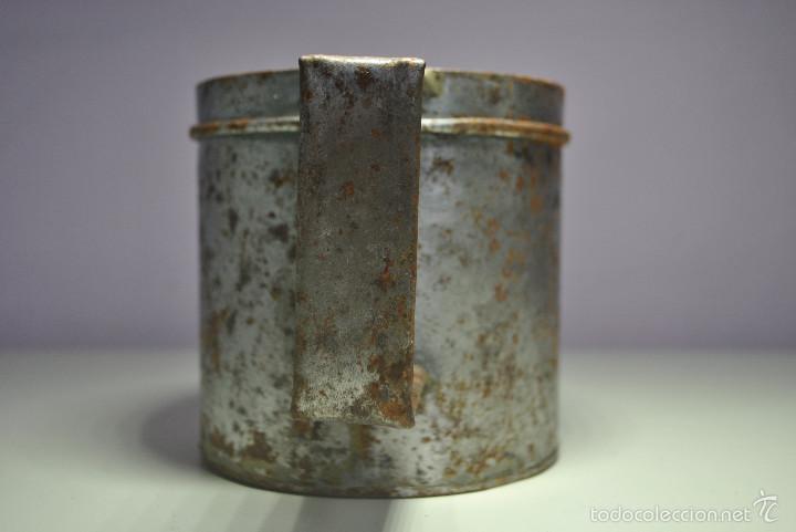Antigüedades: ANTIGUO VASO MEDIDOR DE ACEITE DE OLIVA 1 LITRO- ARAGÓN - Foto 3 - 60493751
