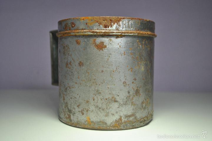 Antigüedades: ANTIGUO VASO MEDIDOR DE ACEITE DE OLIVA 1 LITRO- ARAGÓN - Foto 6 - 60493751