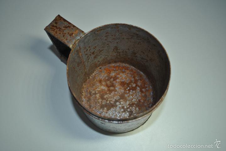 Antigüedades: ANTIGUO VASO MEDIDOR DE ACEITE DE OLIVA 1 LITRO- ARAGÓN - Foto 7 - 60493751