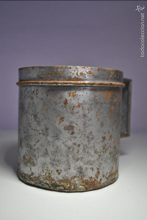 Antigüedades: ANTIGUO VASO MEDIDOR DE ACEITE DE OLIVA 1 LITRO- ARAGÓN - Foto 8 - 60493751