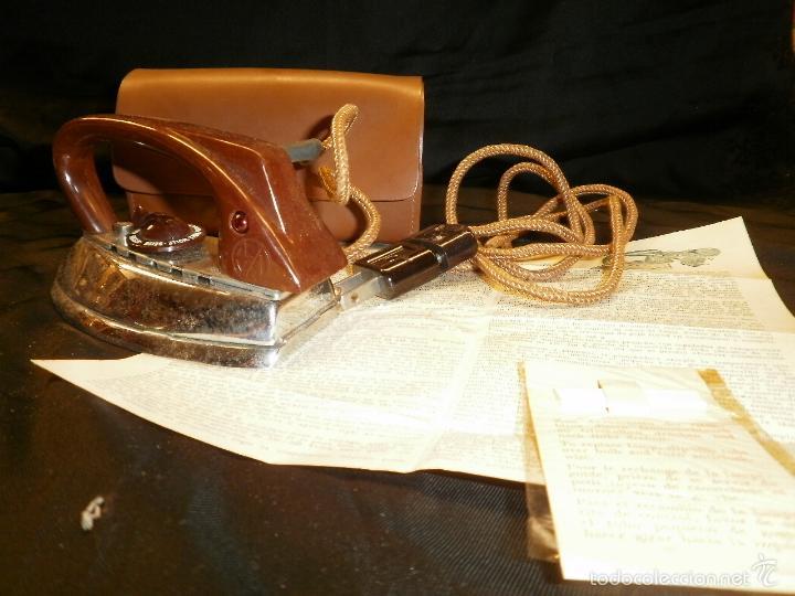 PLANCHA DE VIAJE ALEMANA MARCA AZN AUTOMATICUS (Antigüedades - Técnicas - Planchas Antiguas - Varios)