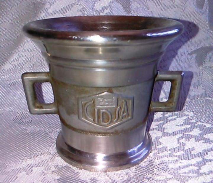 Antigüedades: Almírez de Metal. Laboratorios LEO. - Foto 2 - 60644051
