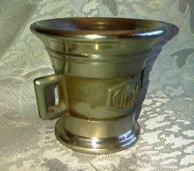 Antigüedades: Almírez de Metal. Laboratorios LEO. - Foto 4 - 60644051