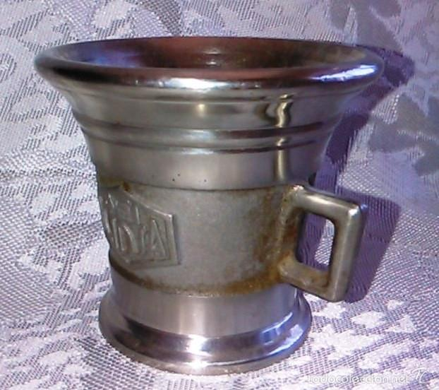Antigüedades: Almírez de Metal. Laboratorios LEO. - Foto 6 - 60644051