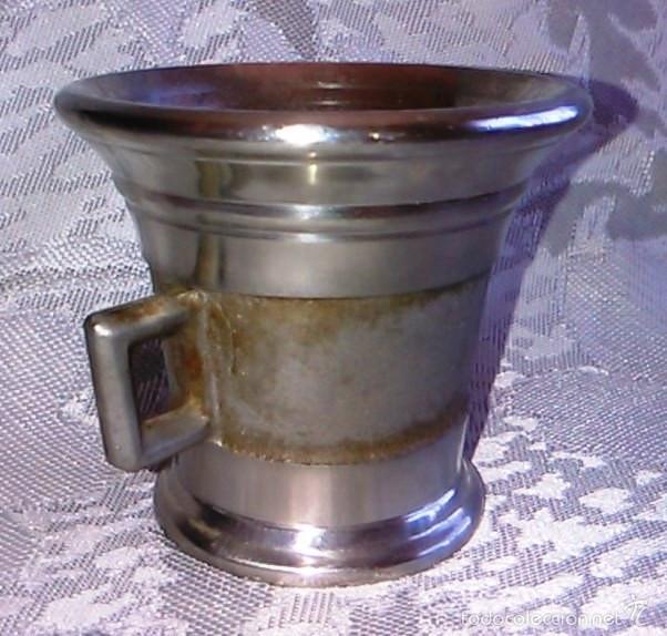 Antigüedades: Almírez de Metal. Laboratorios LEO. - Foto 10 - 60644051