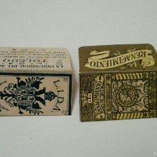 Antigüedades: LOTE DE 2 FUNDAS DE HOJAS DE AFEITAR. Lote 60785210