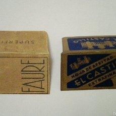 Antigüedades: LOTE DE 2 FUNDAS DE HOJAS DE AFEITAR. Lote 60786431