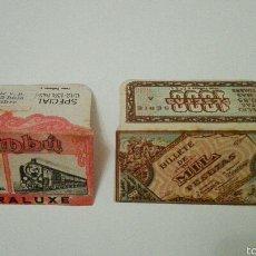 Antigüedades: LOTE DE 2 FUNDAS DE HOJAS DE AFEITAR. Lote 60787535