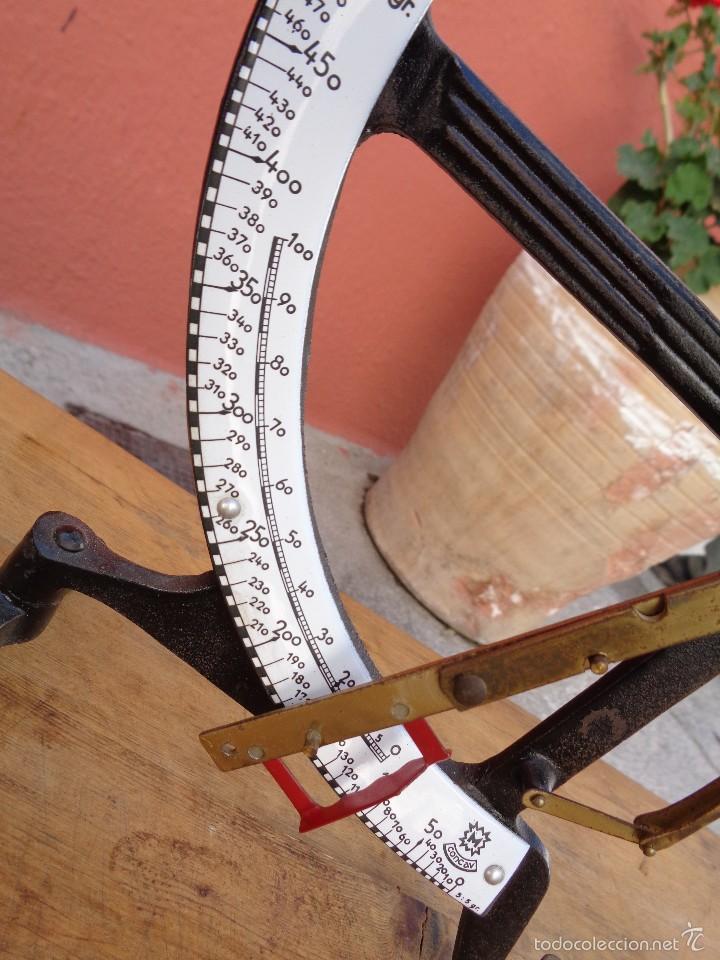 Antigüedades: PESA CARTAS, BASCULA, HASTA 500 g, ANTIGUA ALEMAN - Foto 2 - 60794027