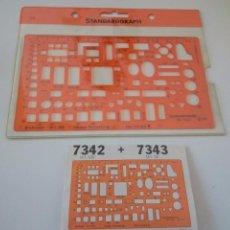 Antigüedades: PLANTILLA DE DIBUJO 7342 - 7343 STANDARDGRAPH. Lote 60863007