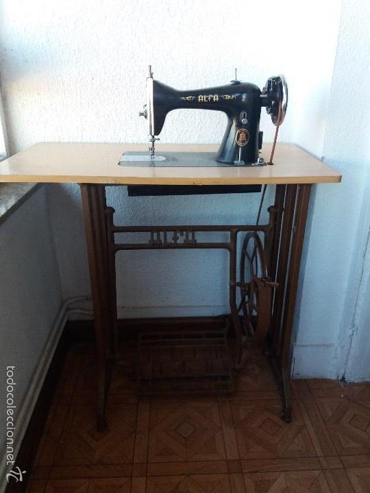 Antigüedades: Maquina de coser ALFA - Foto 2 - 60892747