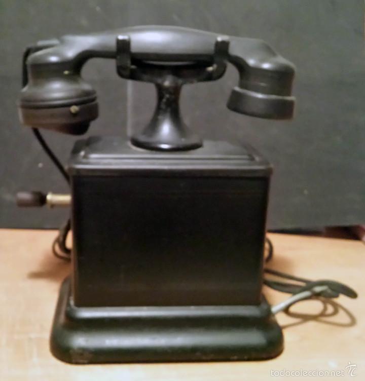 TELEFONO ANTIGUO DE MANIVELA, MARCA BELL TELEPHONE - VER FOTOS - (Antigüedades - Técnicas - Teléfonos Antiguos)
