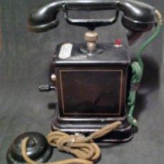 Teléfonos: TELEFONO ANTIGUO DE MANIVELA, EN METAL - VER FOTOS. Lote 60982991