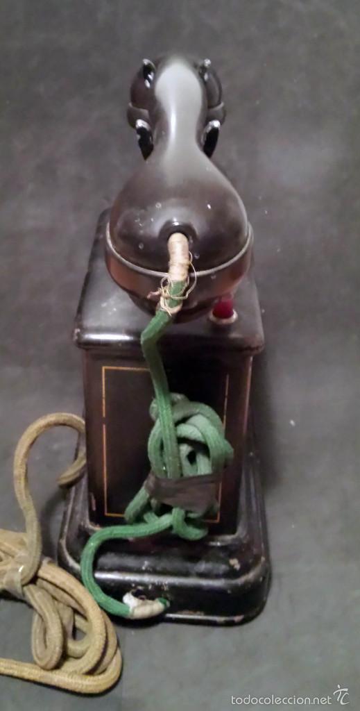 Teléfonos: TELEFONO ANTIGUO DE MANIVELA, EN METAL - VER FOTOS - Foto 3 - 60982991
