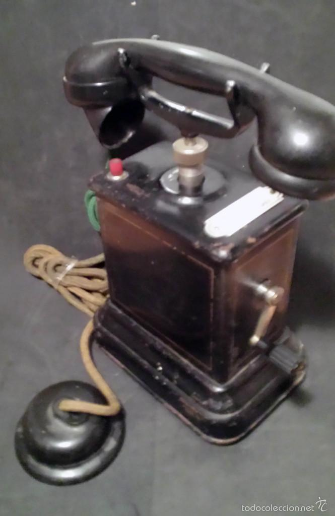Teléfonos: TELEFONO ANTIGUO DE MANIVELA, EN METAL - VER FOTOS - Foto 4 - 60982991