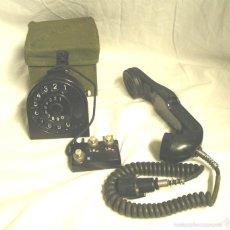 Teléfonos: RULETA MARCAJE Y AURICULAR DEL TELÉFONO MILITAR ALEMÁN STANDARD ELEKTRIK LORENZ 1950, BAQUELITA. Lote 61022963