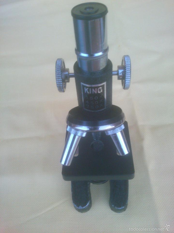 ANTIGUO MICROSCOPIO KING (Antigüedades - Técnicas - Instrumentos Ópticos - Microscopios Antiguos)
