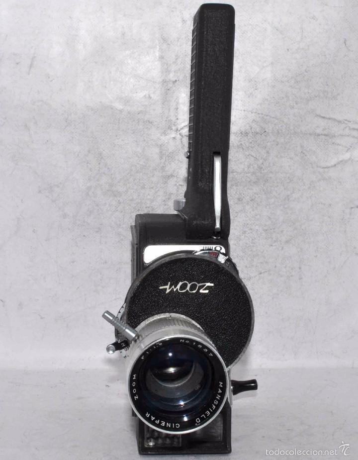 Antigüedades: EXCELENTE Y RARA CAMARA DE CINE A CUERDA..8mm..MANSFIELD HOLIDAY ZOOM MM..MUY BUEN ESTADO..FUNCIONA - Foto 3 - 61269607