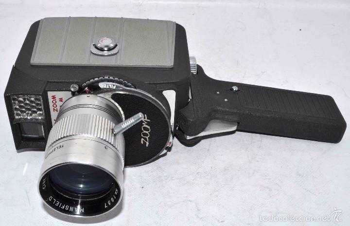 Antigüedades: EXCELENTE Y RARA CAMARA DE CINE A CUERDA..8mm..MANSFIELD HOLIDAY ZOOM MM..MUY BUEN ESTADO..FUNCIONA - Foto 16 - 61269607