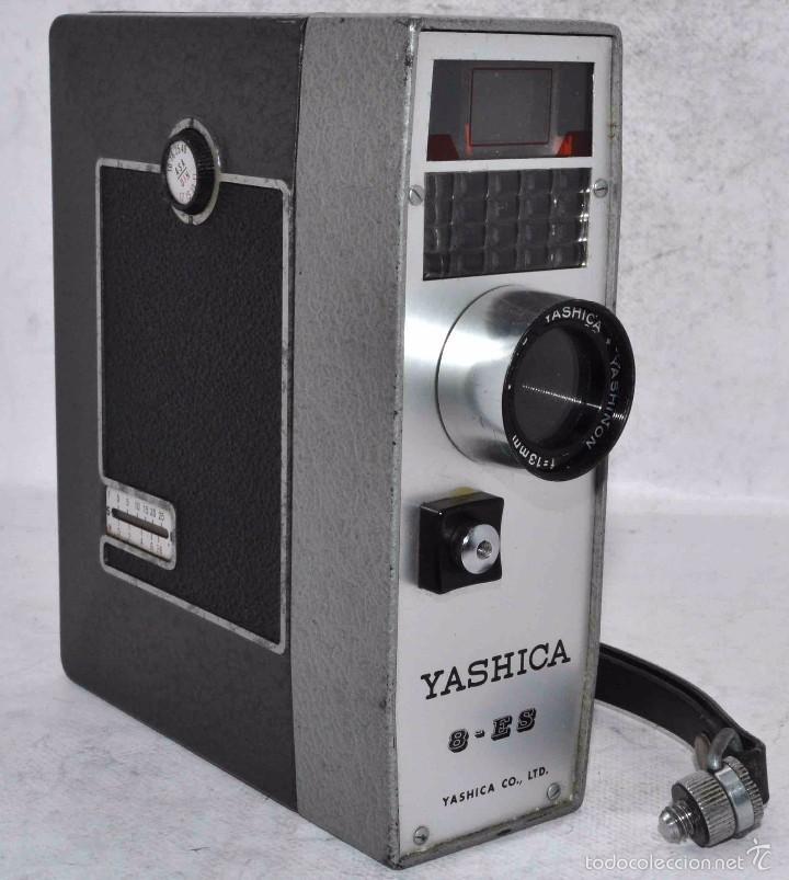 Antigüedades: EXCELENTE FILMADORA, CAMARA DE CINE A PILAS, 8 mm..YASHICA 8, ES..BUEN ESTADO..FUNCIONA - Foto 4 - 61272763