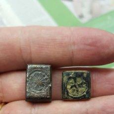 Antigüedades: DOS PESAS PONDERALES A CLASIFICAR PESOS:9'1 Y 13'2 GRAMOS. REYES CATÓLICOS ¿?. Lote 61400787